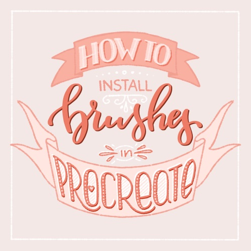 How to install custom Procreate brushes in the app