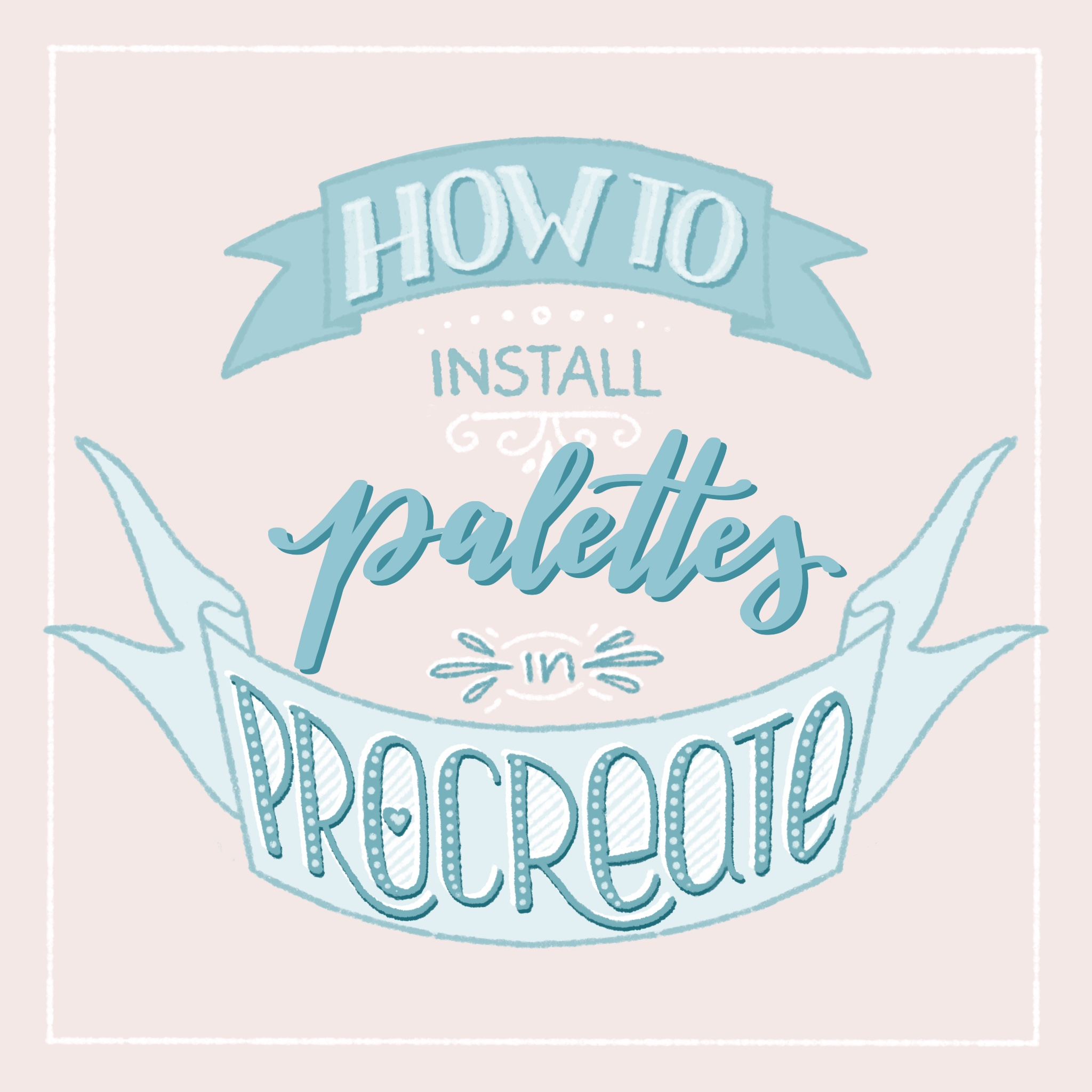 How to install custom palettes in Procreate app - Wonderbox